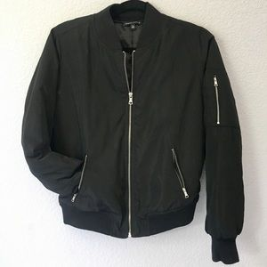 Black Bomber Jacket from PacSun!